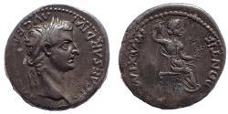 Ancient Coins - Tiberius, AD 36-37. AR Denarius. (Tribute Penny)