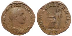 Ancient Coins - Gordian II Africanus, 238 Sestertius 1st - 22nd April 238. Very rare.