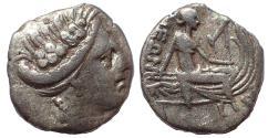 Ancient Coins - Euboea. Histiaia. circa 350-300 BC. Ar Obol.