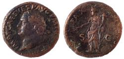 Ancient Coins - Titus. AD 79-81. Æ As