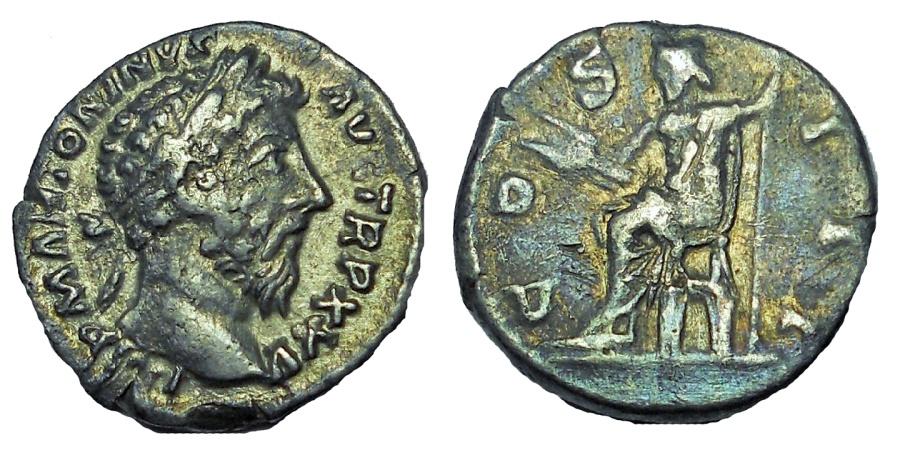 Ancient Coins - Marcus Aurelius. AD 161-180. AR Denarius