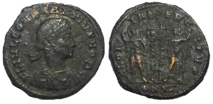 Ancient Coins - Constantius II as Caesar, 324-337 AD.  AE Follis