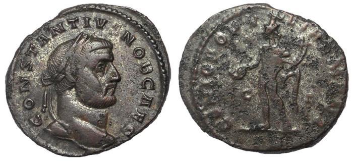 Ancient Coins - Constantius I as Caesar, 293-305 A.D.  AE Follis