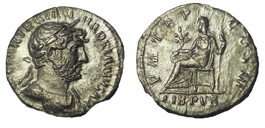 Ancient Coins - Hadrian. 117-138 AD. AR Denarius