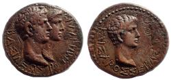 Ancient Coins - Kingdom of Thrace, Augustus, with Rhoemetalkes I and Pythodoris, circa 11 BC - 12 AD, Æ 24