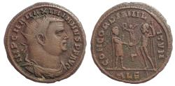 Ancient Coins - Maximianus. First reign, AD 286-305. Æ Radiate Fraction