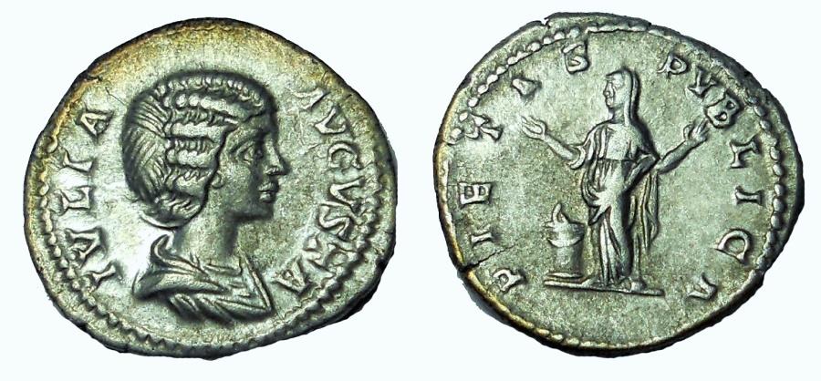 Ancient Coins - Julia Domna, wife of Septimius Severus. AR Denarius