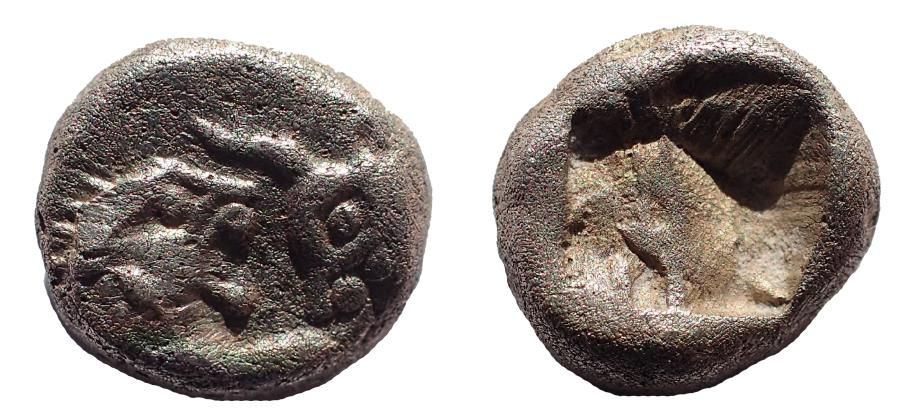 Ancient Coins - Kings of Lydia. Croesus (Circa 564/53-550/39 BC). 1/12 Stater