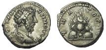 Ancient Coins - Cappadocia, Caesaraea-Eusebia. Marcus Aurelius. AD 161-180. AR Didrachm