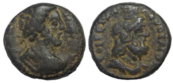 Ancient Coins - Samaria, Caesarea Maritima: Marcus Aurelius, 161-180 AD. Æ 21 mm