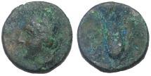 Ancient Coins - Lucania: Metapontum, ca. 300-250 BC.  AE 15 mm