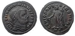 Ancient Coins - Maximianus. 286-305 AD. Æ Follis. Cyzicus mint. Struck 295-296 AD. 28 mm