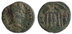 Ancient Coins - Ionia, Ephesus. Hadrian. AD 117-138. Æ 23, Temple of Artemis