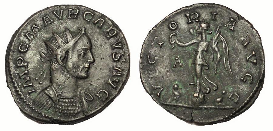 Ancient Coins - Carus. 282-283 AD. Antoninianus 22 mm, 3.6 gm. Lugdunum (Lyons) mint