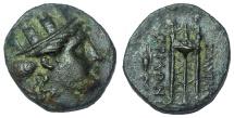 Ancient Coins - Ionia, Smyrna, ca. 220-190 BC. Æ 17