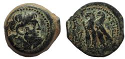 Ancient Coins - Ptolemaic Kings of Egypt. Ptolemy VI Philometor. 180-145 BC. Æ Diobol