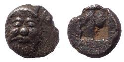 Ancient Coins - Lesbos, Methymna. Circa 500/480-460 BC. AR Tritartemorion. Rare.