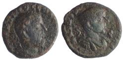 Ancient Coins - Seleucis and Pieria. Antioch. Macrinus, with Diadumenian as Caesar. AD 217-218. Æ As
