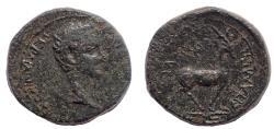 Ancient Coins - Phrygia, Apamea. Germanicus (Caesar, 15 BC-19 AD). Ae 16 Lifetime issue.