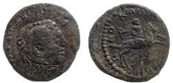 Ancient Coins - Macedon, Koinon of Macedon. Time of Gordian III, AD 238-244. Æ 26 Alexander riding Bucephalus