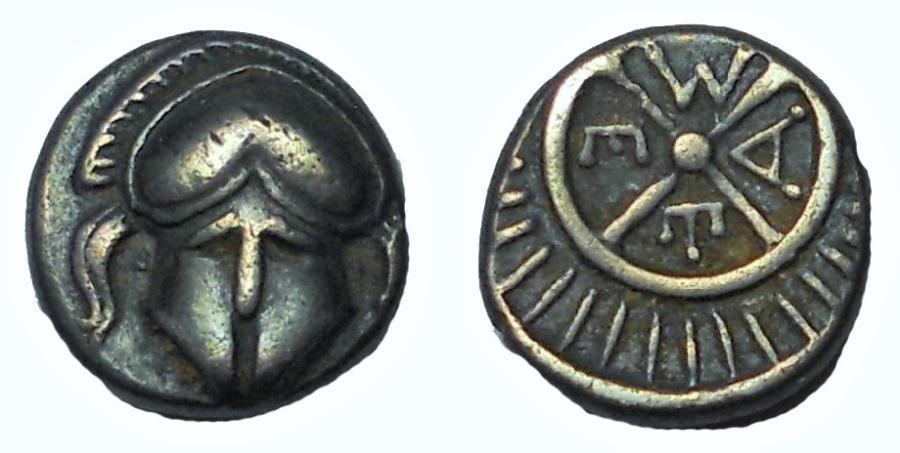 Ancient Coins - Thrace. Mesambria. Diobol (Circa 4th century BC)