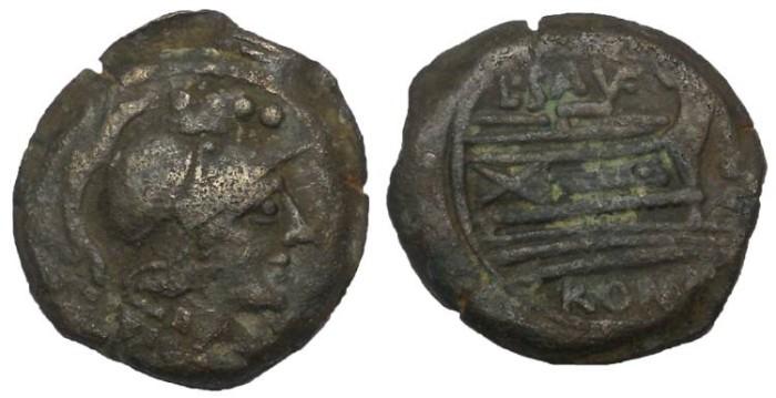 Ancient Coins - C. Papirius Turdus,  ca 152 BC. Triens, AE 21 mm
