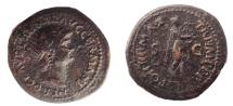 Ancient Coins - Nero as Apollo Citharoedus playing lyre. Ex  E.E. Clain-Stefanelli collection.