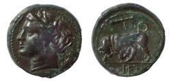 Ancient Coins - Sicily, Syracuse. Hieron II. 275-215 BC Æ. 18