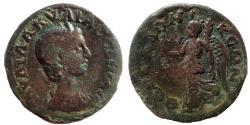Ancient Coins - Macedon, Thessalonica. Aquilia Severa. Augusta, AD 220-221 & 221-222. Æ 24. Very Rare.