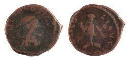 Ancient Coins - Theodosius II. A.D. 402-450. Æ 12. Rare.