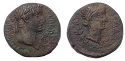 Ancient Coins - Macedon, Thessalonica. Tiberius, with Julia Augusta (Livia). AD 14-37. Æ 22
