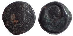 Ancient Coins - Sicily, Tetras, Akragas, c. 420-406 BC; AE 23