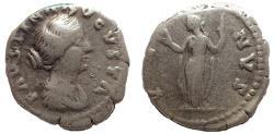 Ancient Coins - Faustina Jr. Denarius, AD 147-175