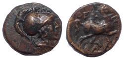 Ancient Coins - Thessaly, Thessalian League. Circa 196-27 BC. Æ 17