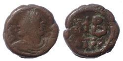 Ancient Coins - Justinian I. 527-565. Æ 12 Nummi. Alexandria mint