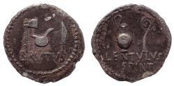 Ancient Coins - Q. Caepio Brutus and Lentulus Spint 43-42 BC. Ar denarius. Rare.