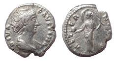 Ancient Coins - Diva Faustina Senior. Died AD 140/1. AR Denarius