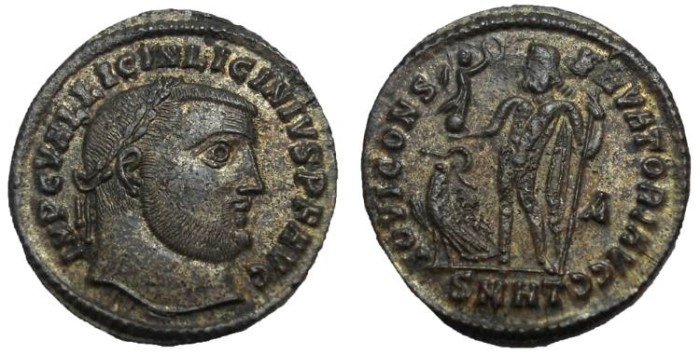 Ancient Coins - Licinius I, 308-324 AD.  AE 3, Herculea mint