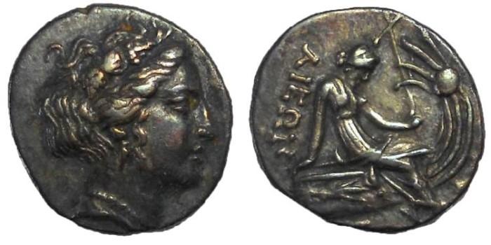 Ancient Coins - Histiaia, 3rd-2nd centuries BC. AR tetrobol