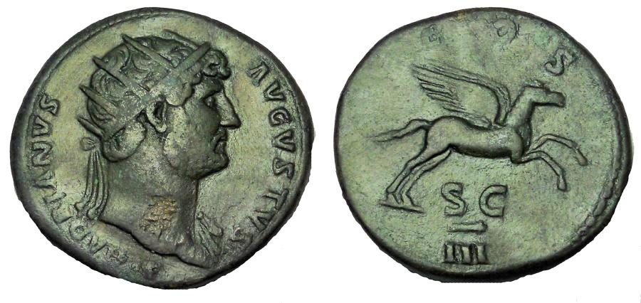 Ancient Coins - Hadrian. 117-138 AD. Æ Dupondius