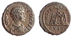 Ancient Coins - Cappadocia, Caesarea-Eusebia. Geta. As Caesar, AD 198-209. AR Drachm. Rare.