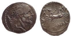Ancient Coins - L. Hostilius Saserna AR Denarius. 48 BC. Vercingetorix, Rare.