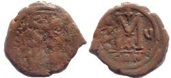 Ancient Coins - Justin II AD 565-572. AE.Follis, struck AD 569/570