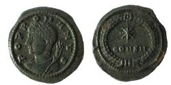 Ancient Coins - Constantinople commemorative Series, 330-354. Follis Ae 15. Rare.