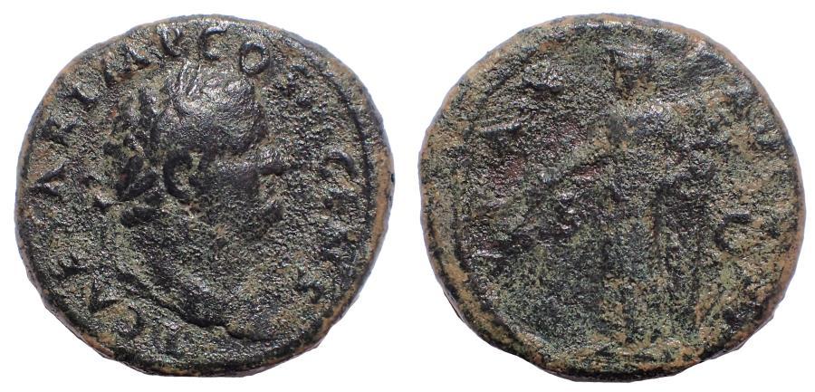 Ancient Coins - Titus. As 73 AD. Rome mint. PAX. Rare.