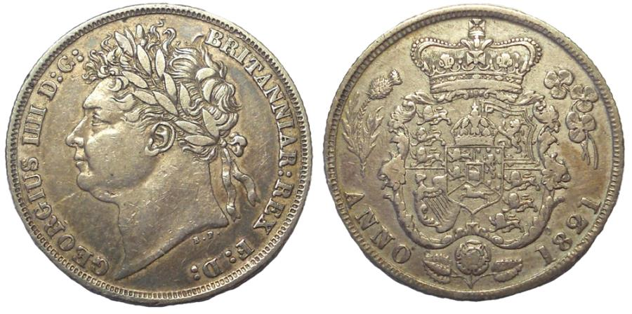 World Coins - George IV, 1820-1830. AR Shilling, Minted 1821, Scarce.