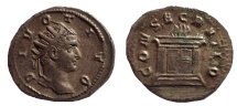Divus Titus. Died 81 AD. AR Antoninianus, Rare.