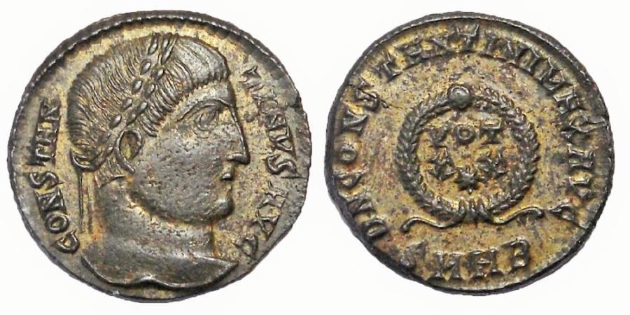 Ancient Coins - Constantine I, 306-337 AD.  AE Follis
