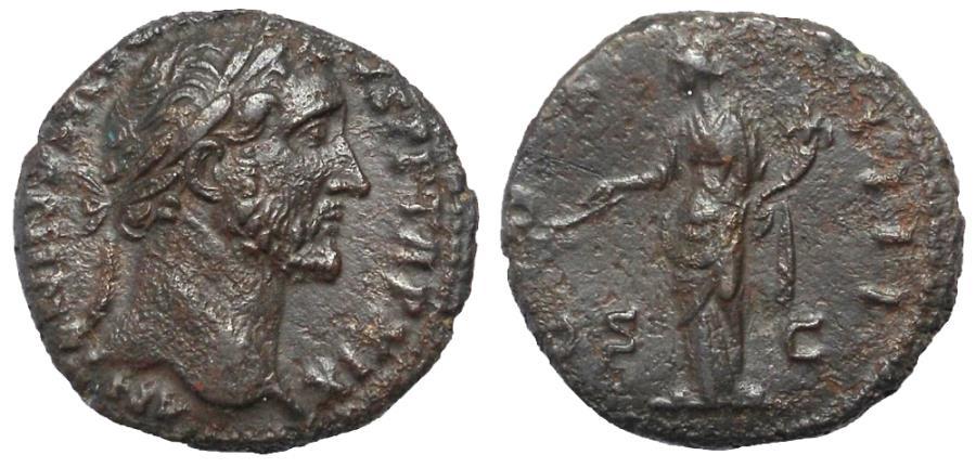 Ancient Coins - Antoninus Pius, 138-161 AD. Æ As, PAX