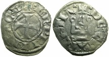 World Coins - CRUSADER STATES.GREECE.Principality of  ACHAIA.Charles I or II of Anjou AD 1278-1285-1289.Bi.Denier.Type KA 101